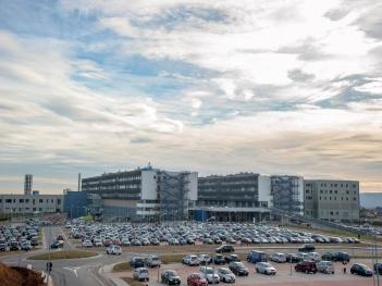 Area esterna nuovo ospedale