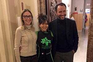 Patrizia Perosino con Pietro Presti e Viola Erdini