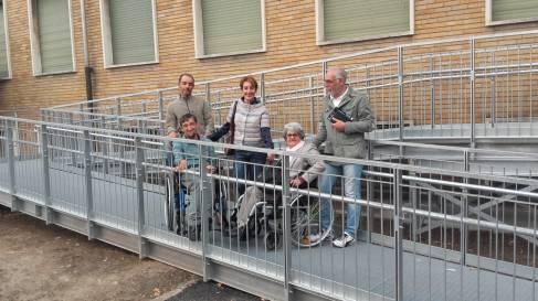 nuova rampa disabili palazzo pella 1