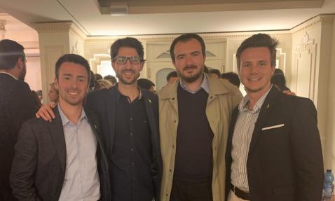 Candidati Lega Giovani Biella con Molinari