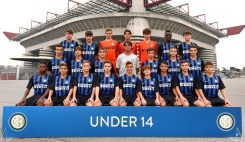 FC Internazionale U14 team at Stadio Giuseppe Meazza on October 17, 2018 in Milan, Italy.