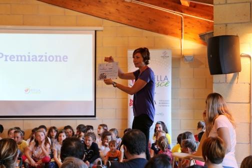 Valeria Rosso durante la premiazione