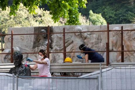 rosazza, restauro monumento fai